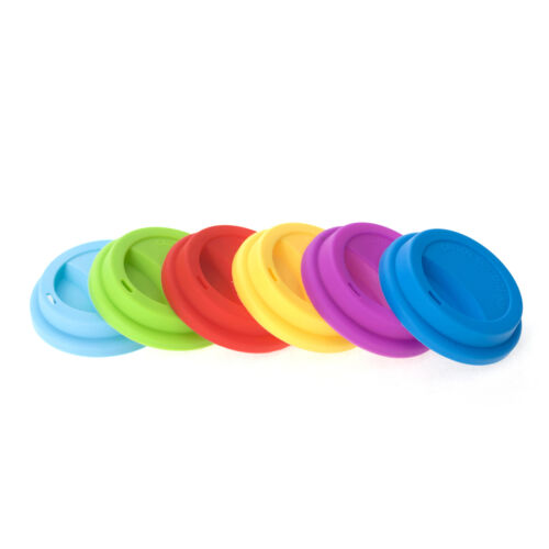 Aspire 6 PCS Silicone Drinking Lid Cup Lids Reusable Coffee Cup Covers Lids