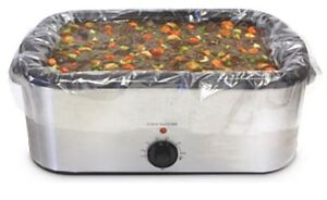 20 ct Electric Roaster PAN LINER  18-22  QT  Disposable Oven Bags  Fast Ship!