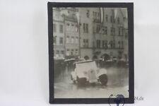 altes original privat Foto auf Glas positiv Auto Adler Trumpf um 1933 Autorennen