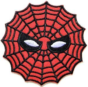 Spiderman Superhero Spier Web Patch Iron on T shirt Cap Hat Bag Pants Costume