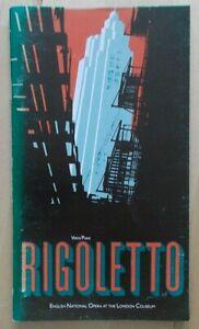Rigoletto programme English National Opera (ENO) 1983 John Rawnsley Sean Rea