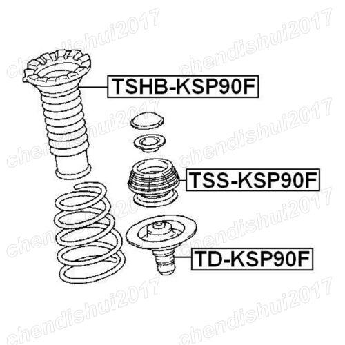 2Pcs Front Shock Absorber Strut Mount For For Toyota Yaris Vios 06-12 486090D050