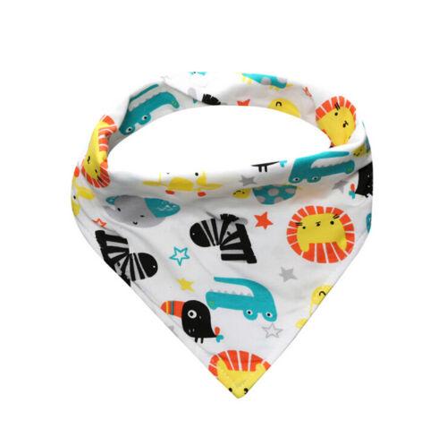 Kid Baby Feeding Head Scarf Towel Bib Boy Girl Bandana Saliva Triangle Dribble