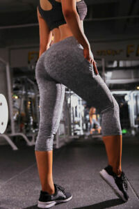 c9362cfd3f410e Tummy Control High Waist Leggings with Pockets Yoga Fitness Running ...