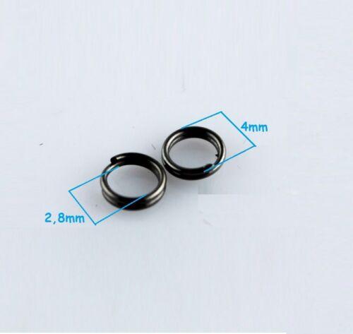 4 mm ... colier 100 Anneaux double de jonction Gunmetal 4mm Creation bijoux