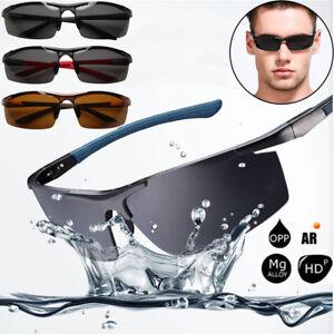 7c0aeb56dbef9 Image is loading HD-Polarized-Mens-Sunglasses-Outdoor-Sports-Aviator-Eyewear -