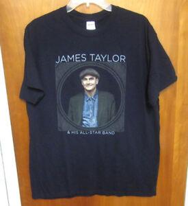 james taylor lrg t shirt acoustic guitar before the world folk rock 2016 tour ebay. Black Bedroom Furniture Sets. Home Design Ideas
