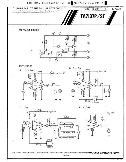 Ta7137p Integrated Circuit