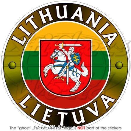 LITAUEN LITHUANIA LIETUVA Litauische Stoßstange 100mm Vinyl Sticker Aufkleber