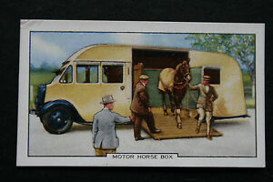 Motor-Horse-Box-Original-1930-039-s-Vintage-Illustrated-Card-VGC