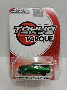 Rare-Greenlight-Tokyo-Torque-2002-Nissan-Skyline-GT-R-R34-Green-Machine-Chase