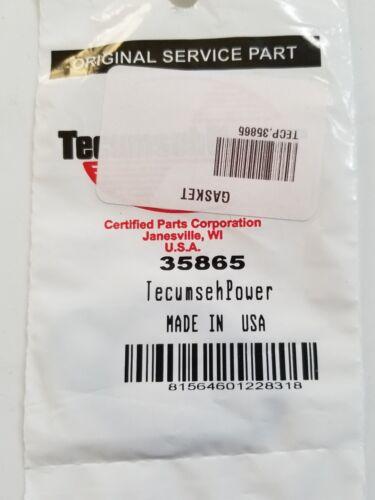Genuine OEM Tecumseh Power 35865 Exhaust Gasket *Fast Free Shipping*