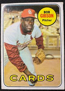 1969 Topps #200 Bob Gibson St. Louis Cardinals HOF ⚾⚾⚾