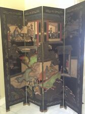Asian Home Vintage Oriental Style 6 Panels Screen Room Divider eBay