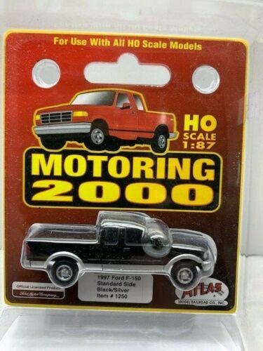 Atlas 1997 Ford F150 Std Side Black//Silver HO Scale