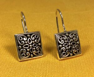 Vintage-925-Fine-Sterling-Silver-Hook-Earrings