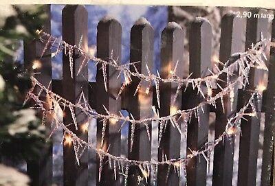 Weihnachtsdeko Für Geländer.Led Lichterkette Eiszapfen Gartenzaun Geländer Weihnachtsdeko