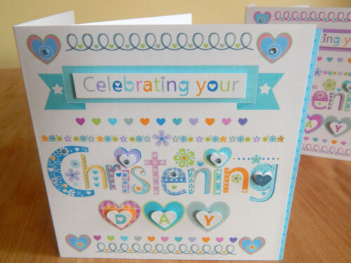 Christening card Christening girl Christening boy card special christening day