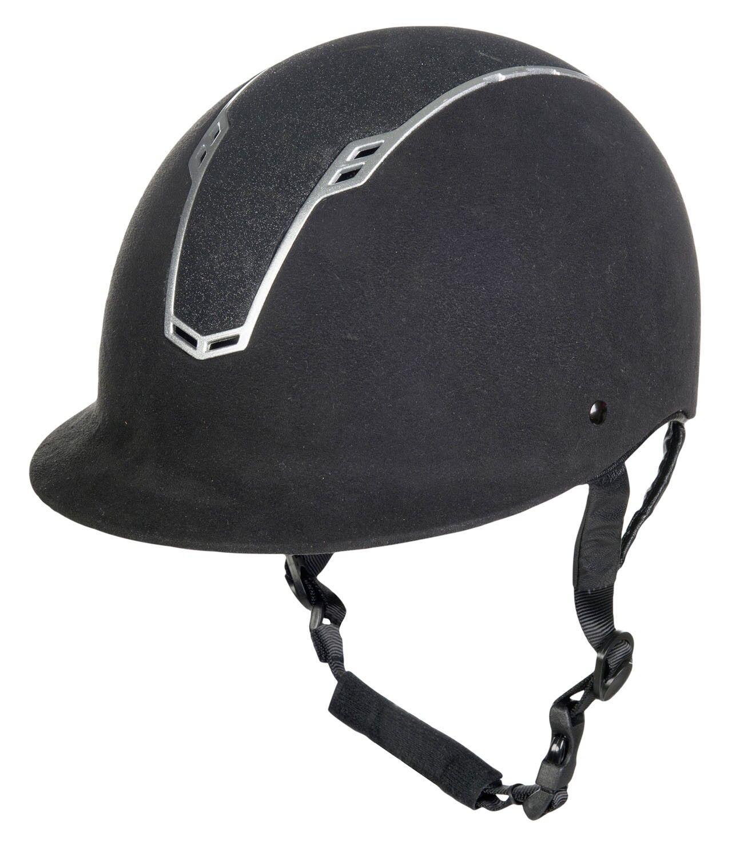 Pferdo24 HKM Reithelm Graz black Reitkappe stufenlos verstellbarer Helm Kappe