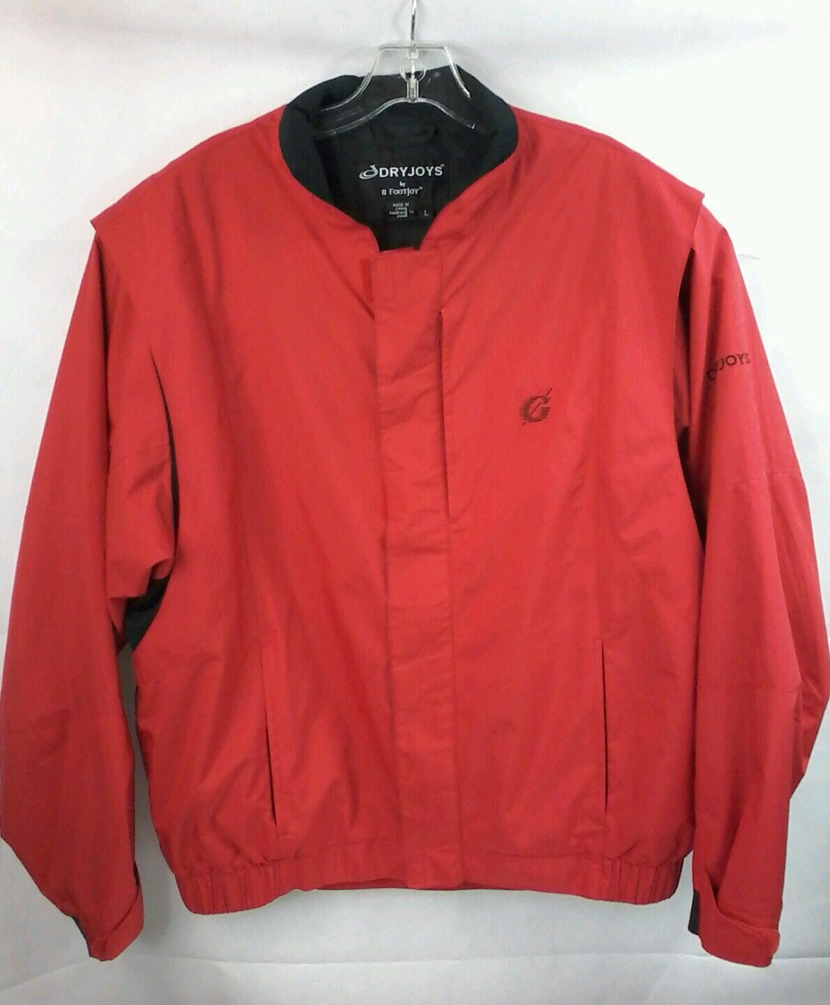 DryJoy by FootJoy Rain Proof Windproof Red Mens Size L zc237