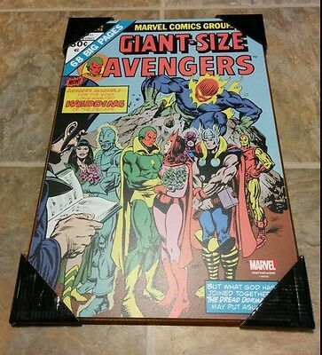 """The Avengers 'giant Size' Wall Plaque Wedding #4 marvel Comic Print, 13""""x19"""""""