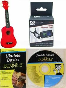 Red Diamond Head Ukulele SALE w/ bag Tuner Book And HOW to CD NR