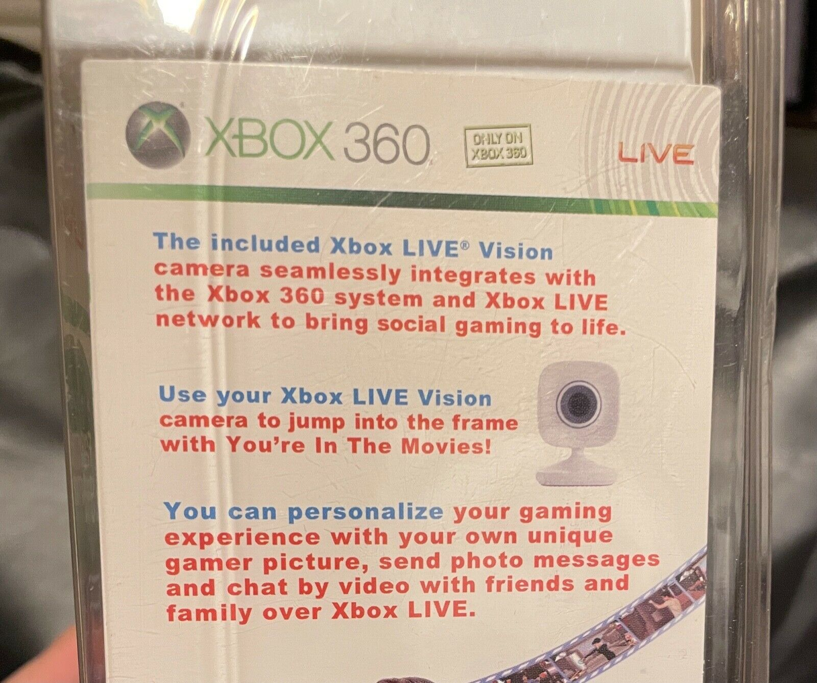 Microsoft Xbox 360 Live Vision Camera game BRAND NEW SEALED You're in the Movies