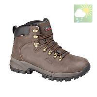 Johnscliffe® Canyon Hiking / Walking Boots. Waterproof Brown Crazy Horse Leather