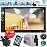 "2 Din 7"" In Dash Car Stereo MP5 Player Bluetooth Touchscreen Radio FM Aux+Camera"