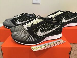 Nike Flyknit Racer Orca Black white Volt Mens sizes style   526628 ... dd8b959d5