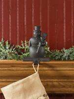 Christmas Stocking Holder Hanger - Vintage Snowman By Park Designs - Iron