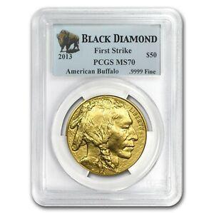 2013-50-Buffalo-PCGS-MS70-First-Strike-Gold-Coin-1oz-FS-American-Bullion-999