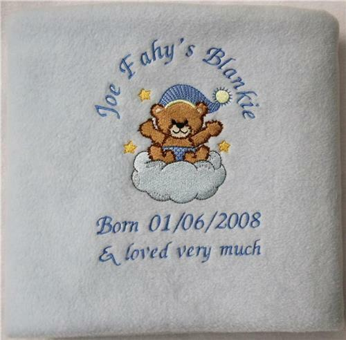 Baby Boy,Girl Gift Personalised Baby Pram//Cot Blanket Quality Fleece Blanket