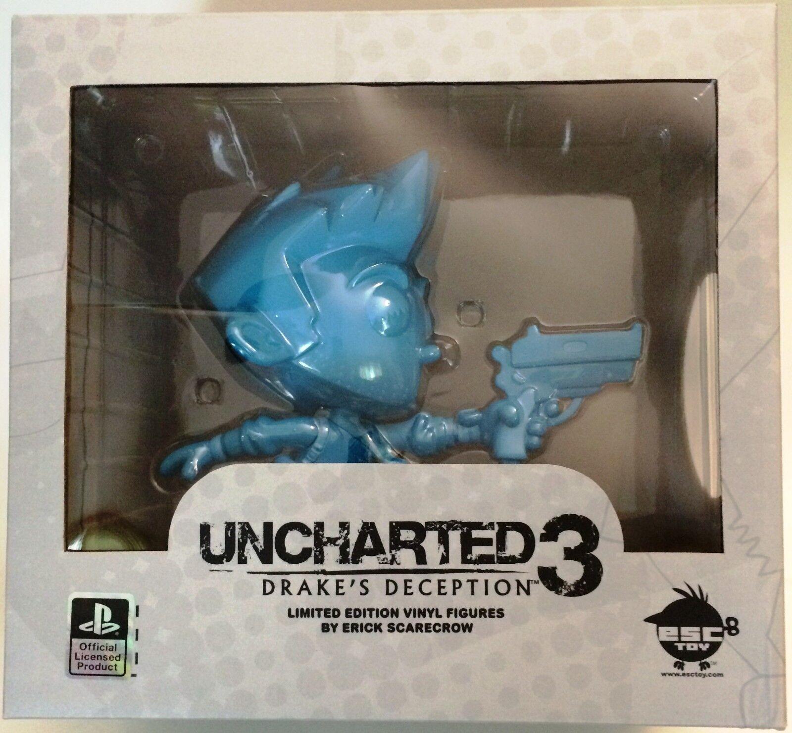 Uncharted Nathan Drake Esc-Juguete SCocheecrow Figura de Vinilo Azul Edición Erick