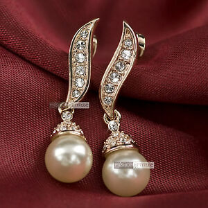 18k-rose-gold-GF-made-with-swarovski-crystal-wedding-pearl-stud-earrings
