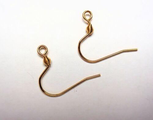 4 acero inoxidable ohrhaken pescado gancho Edel dorado 14,5x12 mm calidad superior//497