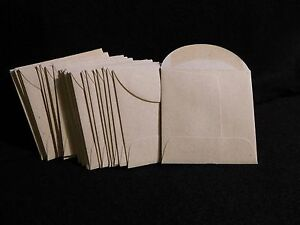 25  KRAFT  24 lb.  PAPER  COIN ENVELOPES  ( 2.25 X 2.25 )  NATURAL  WOVE  (#2)