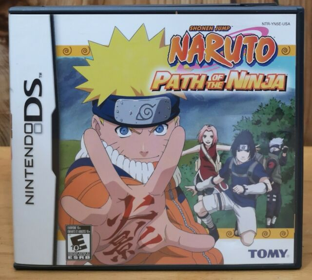 Naruto Path of the Ninja (Nintendo DS, 2002, Tomy) *Complete E