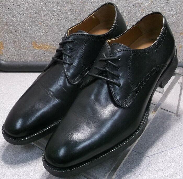 152661 zapatos de hombre ms50 talla 8 metros cinturones de cuero negro Johnston & Murphy