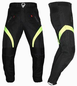 Pantaloni-Impermeabile-Moto-Imbottitura-Termica-Estraibile-Traspirante-Tessuto