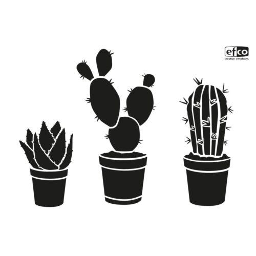 1 Schablone EFCO DIN A4 Stencils für Wand Textil KAKTEEN Kaktus Gewächs