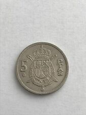 1975 5 Spanish PTAS Pesetas Coin