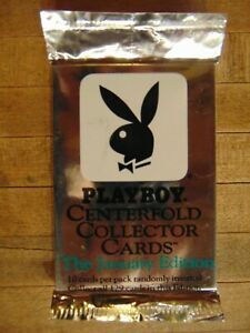Playboy-Centerfold-Collector-Cards-1993-January-edition-sealed-pack-of-10-cards