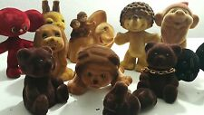 VINTAGE TOYS SOFT POLIMER FLEXABLE GDR DDR USSR CCCP 60'S PRICE FOR ALL 11 TOYS