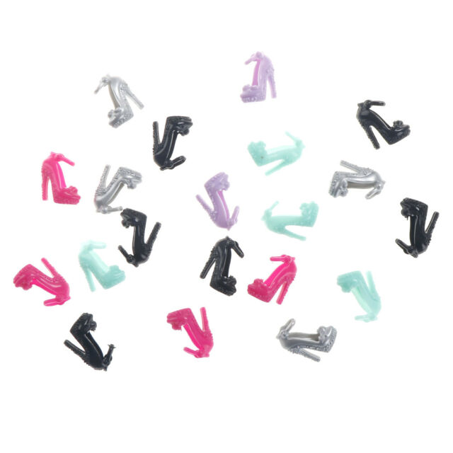 10 Pairs  Shoes Party Dress Doll Shoes  Dolls Accessories Gift TEUS