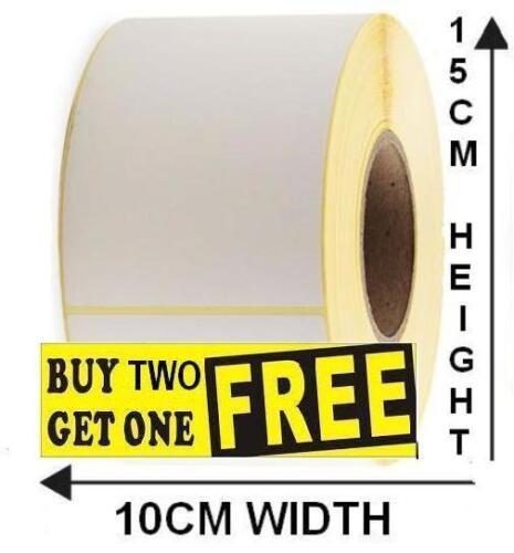 Para Impresoras Zebra Blanco Rollo de etiquetas térmica directa por las etiquetas 15CM X 10CM X 500
