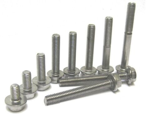 6MM M6 6mm STAINLESS STEEL HX FLANGE BOLT DIAMETER LENGTHS 10MM TO 50MM A2 ST//ST