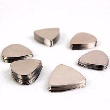 Silver Stainless Steel Guitar Plectrum Pick Med Gauge Pack Of 6 Free Postage