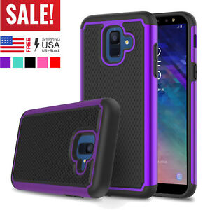 For-Samsung-Galaxy-A6-Phone-Hybrid-Shockproof-Hard-Rugged-Rubber-Slim-Case-Cover