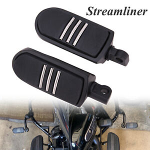 Black-32mm-Highway-Foot-Pegs-Pedals-For-Harley-Touring-Road-King-Street-Glide-US